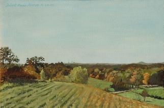 Lou Posner: 'Pasture', 1995 Oil Painting, Farm. Artist Description:  Originally titled,