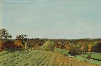 Lou Posner Artwork Pasture, 1995 Oil Painting, Farm