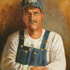 Portrait of Mark LeClere in Bib Overalls