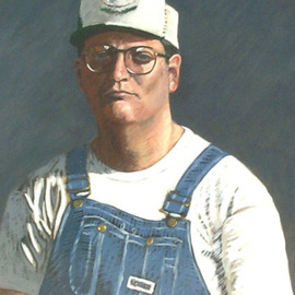 Portrait of Terry Wagner in Bib Overalls