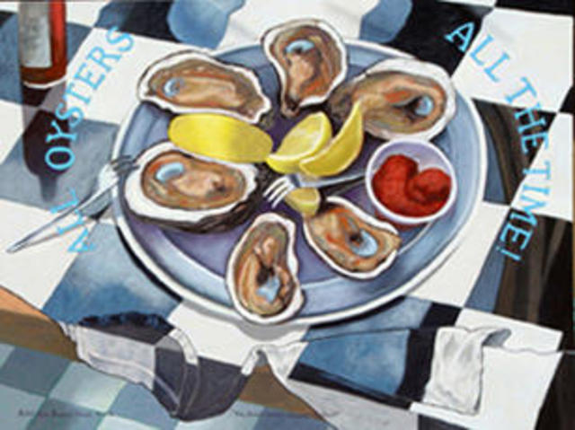 Lou Posner  'Rob  Havent  You Had ENOUGH Oysters', created in 2003, Original Other.
