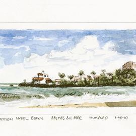 Sheraton Hotel Beach Looking Towards the Point Puerto Rico