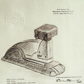 Lou Posner Artwork Staple Gun, 2006 Other Drawing, Americana