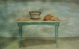 Lou Posner  'Table With Bread And Bowl', created in 2000, Original Other.