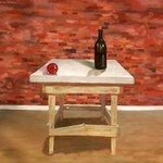 Table with Wine Bottle and Christmas Ornament By Lou Posner