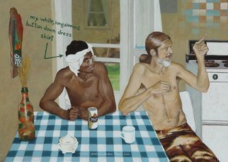 Lou Posner: 'The 1970s', 2005 Oil Painting, Americana.  It' s the 1970' s, isn' t it? ...