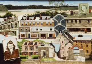 Lou Posner: 'The Birth of Ruth Posner Hyman in Port Deposit MD', 1995 Oil Painting, Family. Artist Description: Ruth was bornJuly 11, 1919in the Buck Houseor the Falls Hotel both in Pt. Deposit, Maryland, on the Susquehanna River, and ferried, during a flood, to the Falls Hotelor the Buck Houseto escape the rising waters. She was my father s sister, spending most of her life in ...