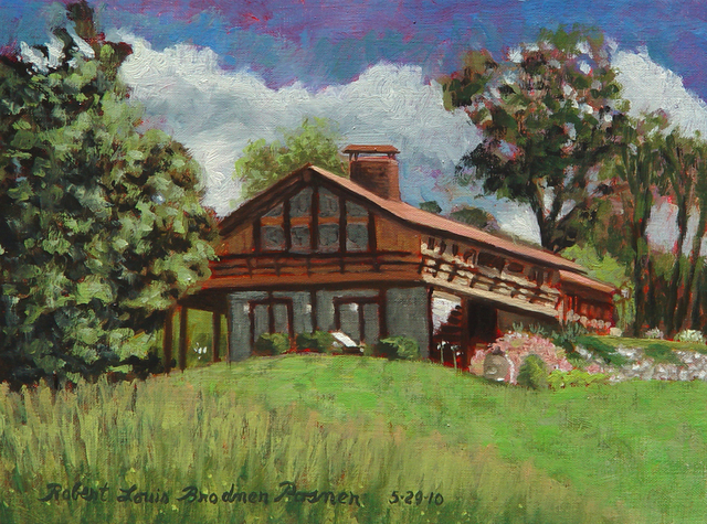 Lou Posner  'The House From The Back Lawn', created in 2010, Original Other.