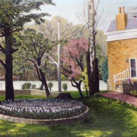 Lou Posner Artwork The Lanier House, 2000 Oil Painting, Architecture