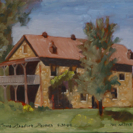 Lou Posner Artwork The Nester House, 2004 Oil Painting, Americana