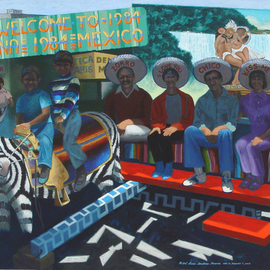 Lou Posner: 'Tijuana', 2004 Oil Painting, Travel. Artist Description:  A day in Tijuana, Mexico, in 1984 with family.  It took me 20 years to complete this painting. ...