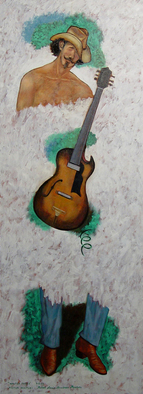 Lou Posner Artwork Walter Parks, 2009 Oil Painting, Music