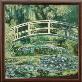 Waterlilies and Japanese Bridge after Monet 1899