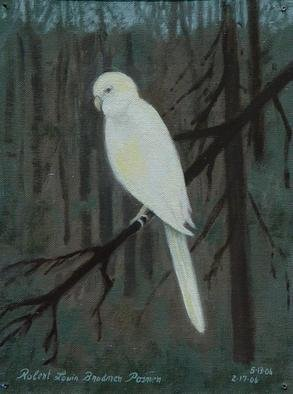 Lou Posner Artwork 'White Bird   Unintended Selfportrait', 2006. Oil Painting. Animals. Artist Description: I looked out my studio window on a cold, gray, overcast day in February and saw this. ( Done from memory) . Oil on canvas ......