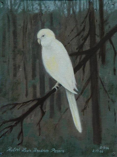 Lou Posner  'White Bird   Unintended Selfportrait', created in 2006, Original Other.
