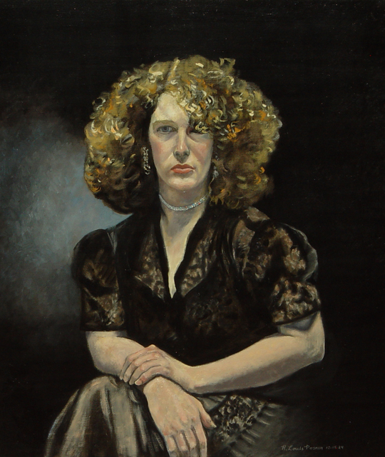 Lou Posner  'Portrait Of Liz In Black Dress', created in 1984, Original Other.