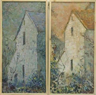 Artist: Dumitru Macovei - Title: Old houses, Israel - Medium: Oil Painting - Year: 2014