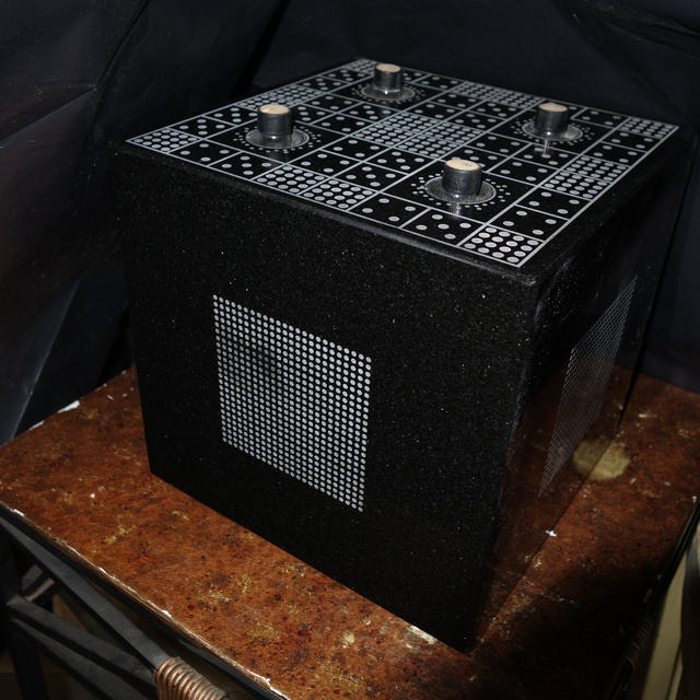 Duncan Laurie  'Radionic Cube F17', created in 2016, Original Sculpture Granite.