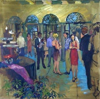 Durre Waseem: 'An evening at RAM', 2008 Oil Painting, Interior.  At one of the Riverside Art Museum events where I was one of the guest artists to paint. ...