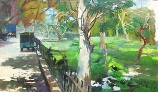 Durre Waseem: 'One afternoon', 2017 Oil Painting, Landscape.