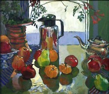 - artwork Still_life_with_steel_Kettle-1236733050.jpg - 2009, Painting Oil, Still Life