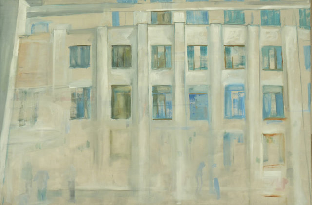 Dusanka Badovinac  'Windows', created in 2011, Original Painting Oil.