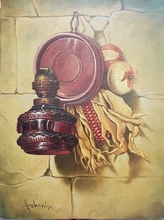 - artwork Old_lamp-1351597011.jpg - 2012, Painting Oil, Still Life