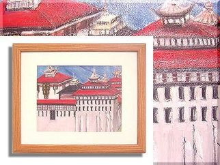 Duygu Kivanc Artwork Thimpu dzong, 1987 Oil Painting,