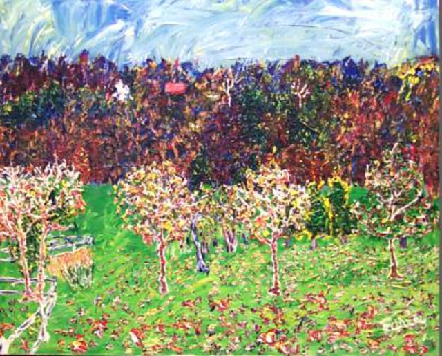 Jack Earley  'Beckys Wisconsin Cherry Orchard', created in 2002, Original Other.