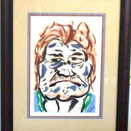Jack Earley: 'Big Mountain Indian', 1990 Other Painting, Americana. Artist Description: The portrait is of a Big Mountain Indian from the Black Mesa area near Four Corners, probably in northern Arizona.The work is done with sumi- e inks, the medium used in many Asian paintings, and is on acid- free paper.  It is surrounded by acid- free material, ...