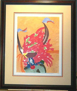 Jack Earley Artwork Buffalo Dancer, 1990 Other Painting, Americana