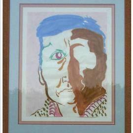 Jack Earley: 'Navaho Man', 1990 Other Painting, Americana. Artist Description: This portrait is painted in sumi- e ink on hand- made rice paper, with acid- free matting and a wood frame with uv conservation glass....