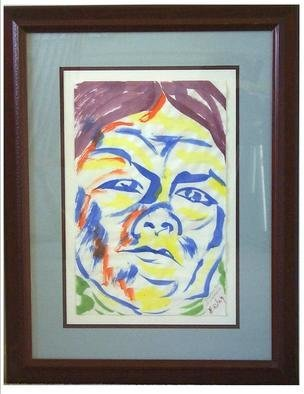 Jack Earley: 'Shoshoni Girl at Washakie', 1990 Other Painting, Americana. The work is done in sumi- e ink on acid- free paper and surrounded by acid- free material for longevity. It has ultraviolet light resistant glass and a rich mahogany frame....