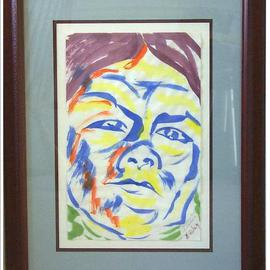 Jack Earley: 'Shoshoni Girl at Washakie', 1990 Other Painting, Americana. Artist Description: The work is done in sumi- e ink on acid- free paper and surrounded by acid- free material for longevity. It has ultraviolet light resistant glass and a rich mahogany frame....