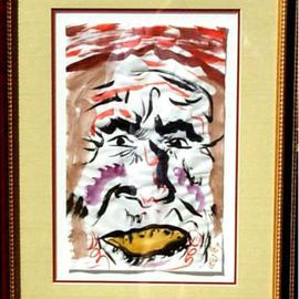 Jack Earley: 'Sierra Tarahumara', 1990 Other Painting, Americana. Artist Description: An Indian with the eyes of a great soaring bird.The work is done on acid- free paper and surrounded by acid- free material for longevity.  It has ultraviolet light resistant glass and a rich gold and brown frame....
