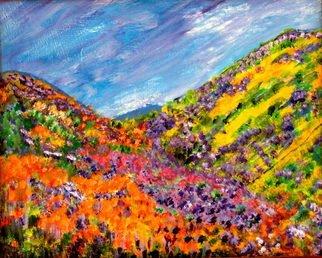Landscape Acrylic Painting by Linda Slasberg Title: Gods Paintbox, created in 2009
