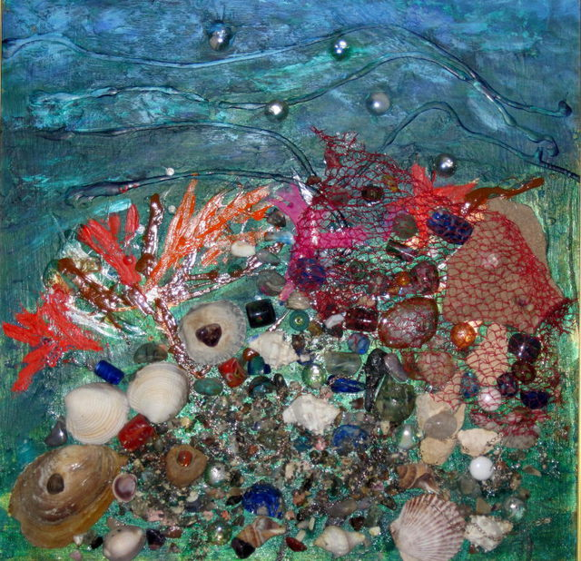 Linda Slasberg  'Sunken Treasure ', created in 2009, Original Assemblage.