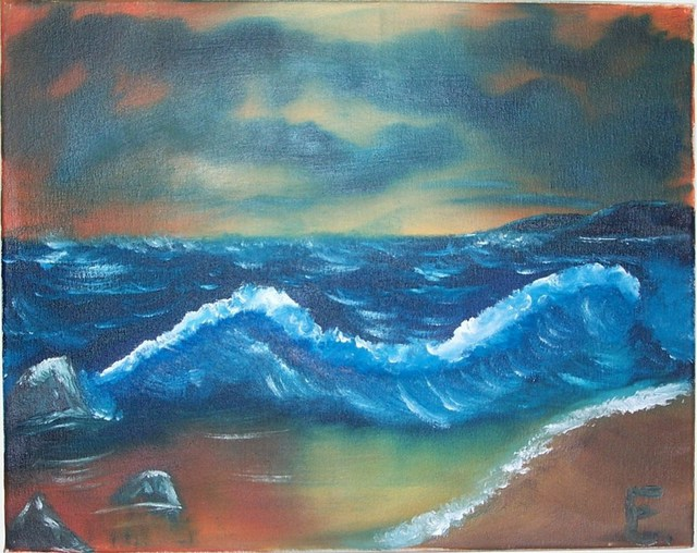Erik Terrell  'Oceans Fury', created in 2010, Original Painting Oil.