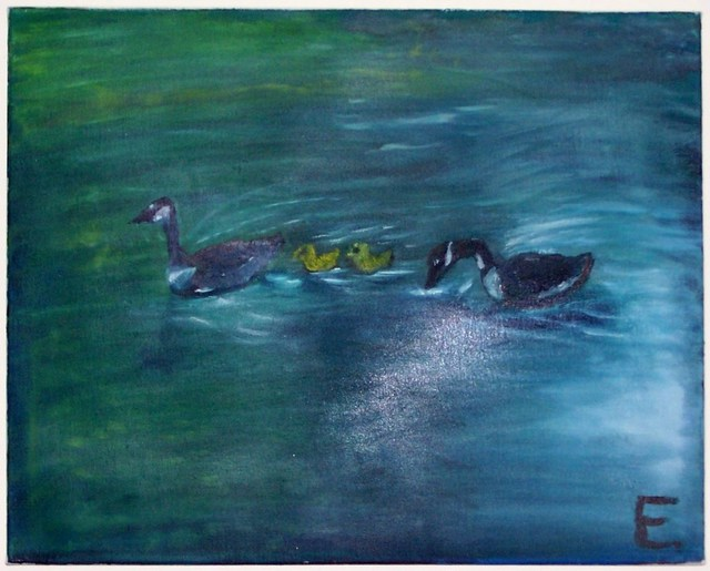 Erik Terrell  'The Ducks', created in 2010, Original Painting Oil.