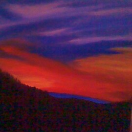 Carla Salgado: 'Hilltop Sunset', 2010 Acrylic Painting, Scenic. Artist Description:  I love the outdoors so this was inspired by the wonderful colors of the evening sky. This painting is on stretched canvas. ...