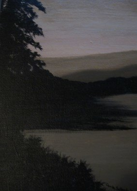 Carla Salgado: 'Shadows at Dusk', 2010 Acrylic Painting, Scenic.  Inspired by the outdoors this pieces gives that calm cool feeling to the eye of when daylight becomes dusk. This painting is on stretched canvas. ...