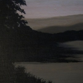 Carla Salgado: 'Shadows at Dusk', 2010 Acrylic Painting, Scenic. Artist Description:  Inspired by the outdoors this pieces gives that calm cool feeling to the eye of when daylight becomes dusk. This painting is on stretched canvas. ...