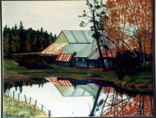 Ralph Eastland Artwork Cowichan Bay Barns, 2002 Watercolor, Landscape