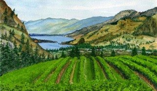 Artist: Ralph Eastland - Title: Hawthorne Mountain Vineyard - Medium: Watercolor - Year: 2006