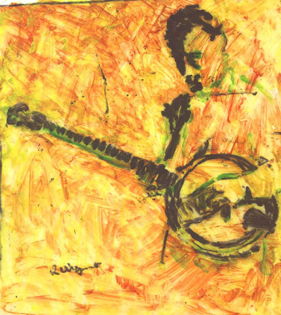 Richard Wynne  'Banjo Player 1', created in 2002, Original Photography Color.