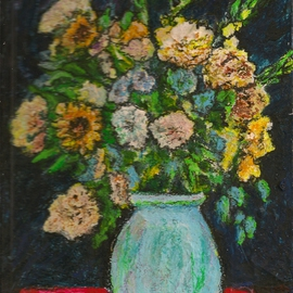 Richard Wynne: 'Bouquet', 2010 Other Painting, Floral. Artist Description:   Flowers painted from a local store. I don't paint floral themes very often but these flowers looked so nice.  ...