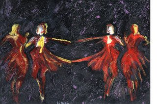 Richard Wynne Artwork Dancers, 2007 Other Painting, Abstract Figurative