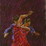 Flamenco Dancers By Richard Wynne