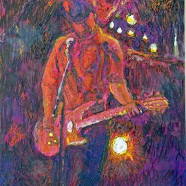 Richard Wynne Artwork Folk Singer, 2008 Other Painting, Music
