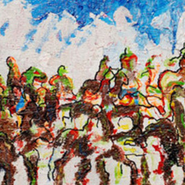 Richard Wynne: 'Mongol Horde', 2007 Other Painting, World Conflict. Artist Description:  thi is another of my